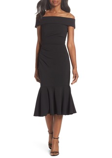 Vince Camuto Off the Shoulder Midi Dress (Regular & Petite)