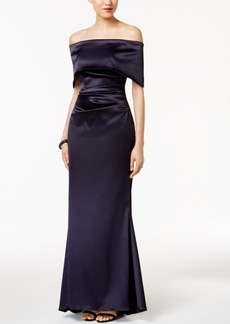 Vince Camuto Off-The-Shoulder Ruched Gown