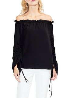 Vince Camuto Off the Shoulder Ruched Sleeve Blouse
