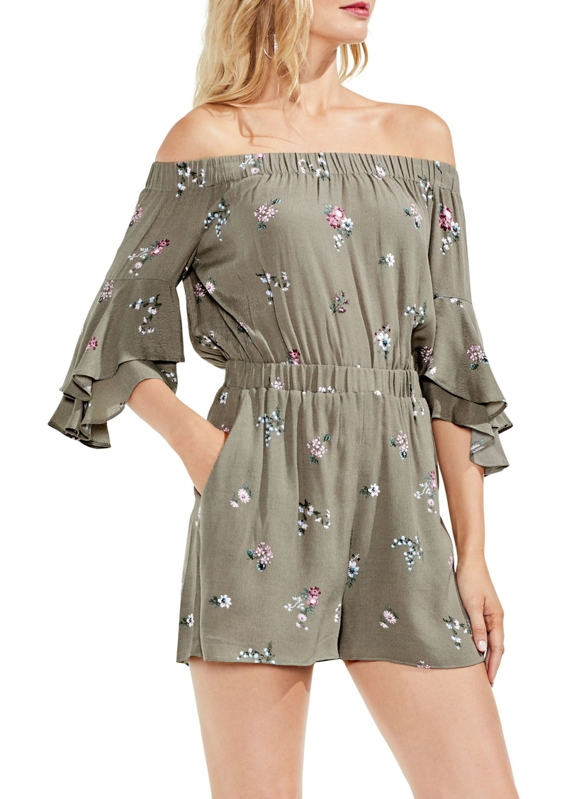0df0c94a371b Vince Camuto Vince Camuto Off the Shoulder Ruffle Sleeve Floral ...