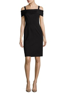 VINCE CAMUTO Off-the-Shoulder Silhouette Dress