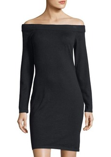Vince Camuto Off-The-Shoulder Sweaterdress