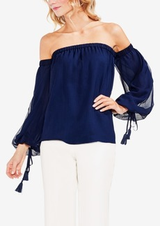 Vince Camuto Off-The-Shoulder Tassel-Detail Top