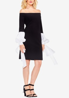 Vince Camuto Off-The-Shoulder Tie-Cuff Dress