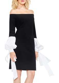 Vince Camuto Off the Shoulder Tie-Sleeve Dress
