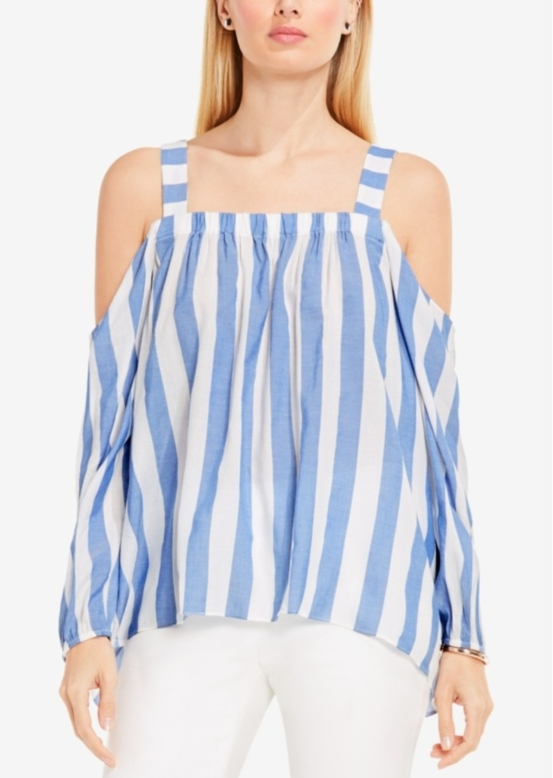 0f016b202a34a On Sale today! Vince Camuto Vince Camuto Striped Cold-Shoulder Top