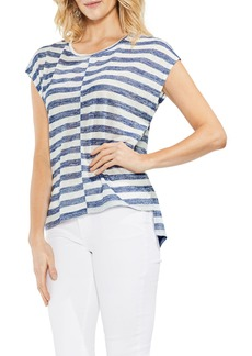 Vince Camuto Offset Stripe Top