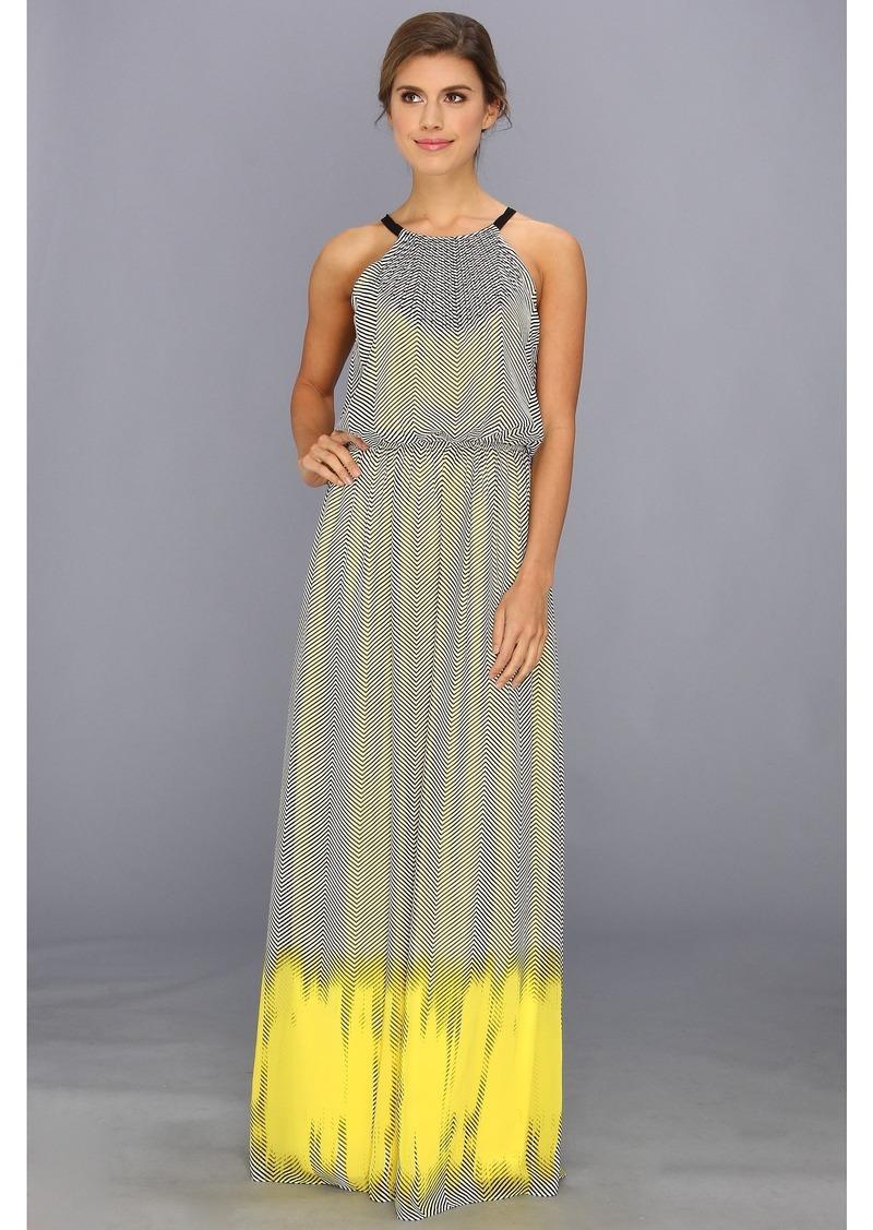 Vince Camuto Ombre Halter Maxi Dress