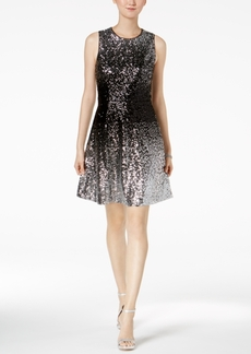 Vince Camuto Ombre Sequined Dress