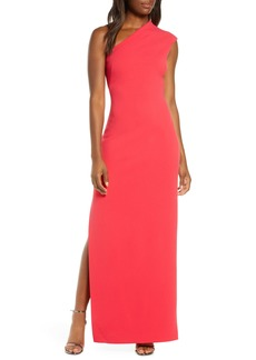 Vince Camuto One-Shoulder Crepe Column Gown