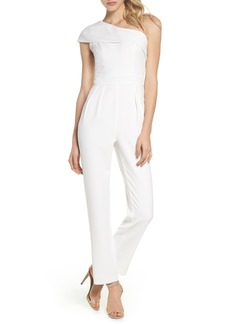 Vince Camuto One-Shoulder Crepe Jumpsuit
