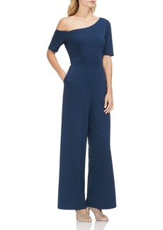 VINCE CAMUTO One Shoulder Crepe Ponte Jumpsuit