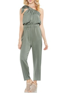 Vince Camuto One-Shoulder Crop Jumpsuit