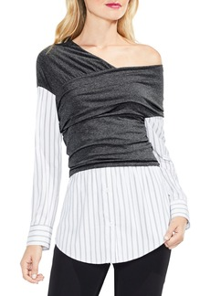 Vince Camuto One-Shoulder Layered Look Top