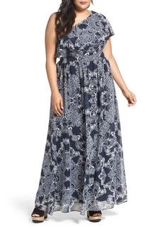 Vince Camuto One-Shoulder Maxi Dress (Plus Size)