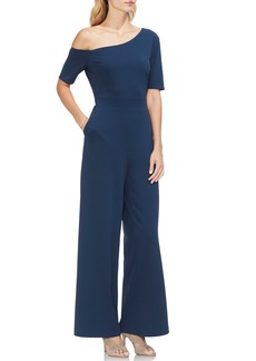 Vince Camuto One-Shoulder Ponte Jumpsuit