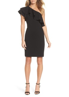 Vince Camuto One-Shoulder Ruffle Dress