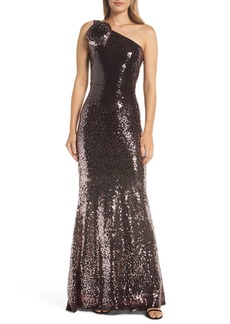 Vince Camuto One-Shoulder Sequin Gown