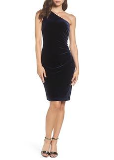 Vince Camuto One-Shoulder Velvet Dress