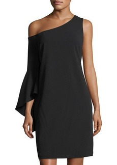 Vince Camuto One-Sleeve Handkerchief Dress