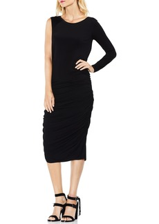 Vince Camuto One Sleeve Side Ruched Body-Con Dress