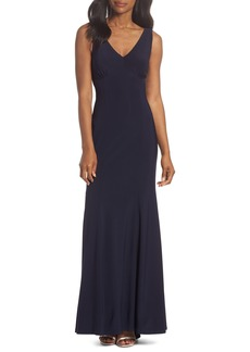 Vince Camuto Open Back Gown (Regular & Petite)