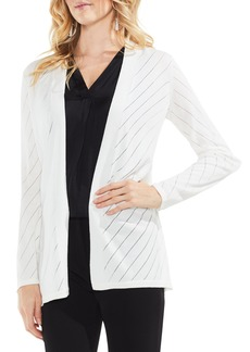 Vince Camuto Open Front Pointelle Cardigan