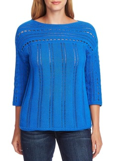 Vince Camuto Open-Stitched Sweater