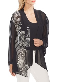 Vince Camuto Ornate Melody Chiffon Jacket