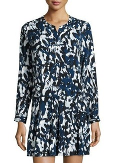 Cynthia Steffe Paint-Print Drop-Waist Dress