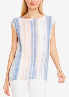 Two by Vince Camuto Paintwash-Striped Top