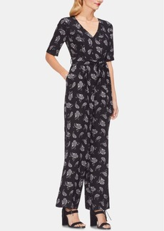Vince Camuto Paisley Belted Jumpsuit
