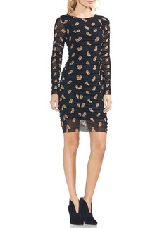 Vince Camuto Paisley Estate Mesh Body-Con Dress