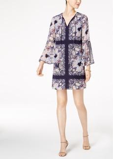 Vince Camuto Paisley-Print Bell-Sleeve Shift Dress