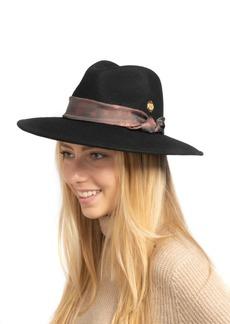 Vince Camuto Paisley Scarf Band Panama Hat