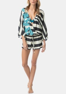 Vince Camuto Palm Shadow Printed Romper Cover-Up Women's Swimsuit