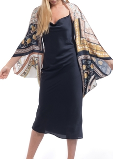 Vince Camuto Patched Scarves Satin Cocoon
