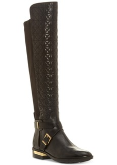Vince Camuto Patira Wide-Calf Quilted Over-The-Knee Riding Boots Women's Shoes