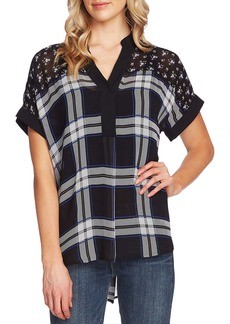 Vince Camuto Pattern Mix Short Sleeve Blouse