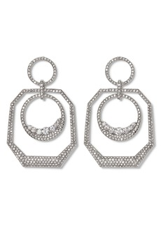 Vince Camuto Pavé Crystal Orbital Hoop Earrings