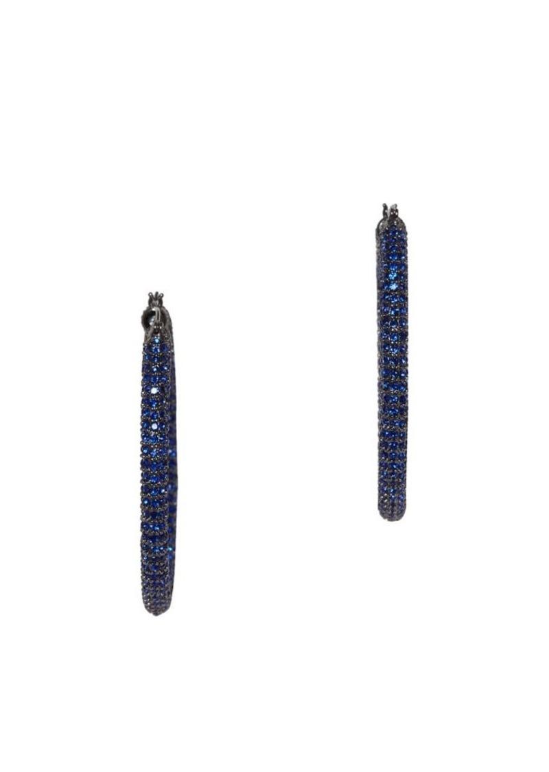 Vince Camuto Pavé Sapphire Crystal Tubular Drop Earrings