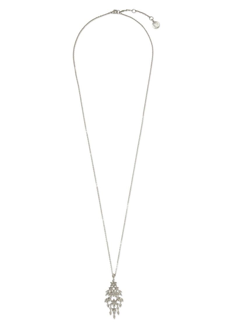 Vince Camuto Pavé Star Long Pendant Necklace