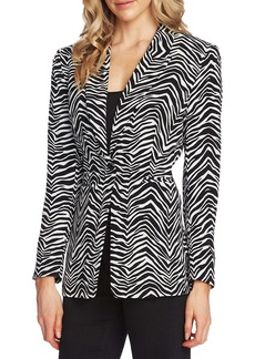 Vince Camuto Peak Lapel Zebra Print Blazer