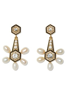Vince Camuto Pearl & Enamel Drop Earrings