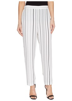 Vince Camuto Pencil Stripe Slim Leg Pull-On Pants