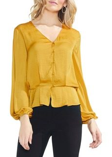 Vince Camuto Peplum Hem Button-Down Blouse (Regular & Petite)