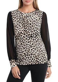 VINCE CAMUTO Perfect Leopard Top