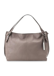 Vince Camuto Pewter Leather Satchel Bag