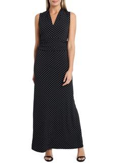 Vince Camuto Pin Dot Jersey Maxi Dress (Regular & Petite)