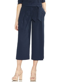Vince Camuto Pinstripe Belted Crop Pants